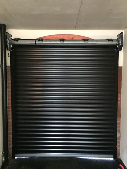 Black Automatic Garage Door