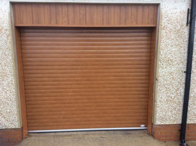 Brown Wooden Door Image