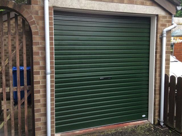 Green Roller Door