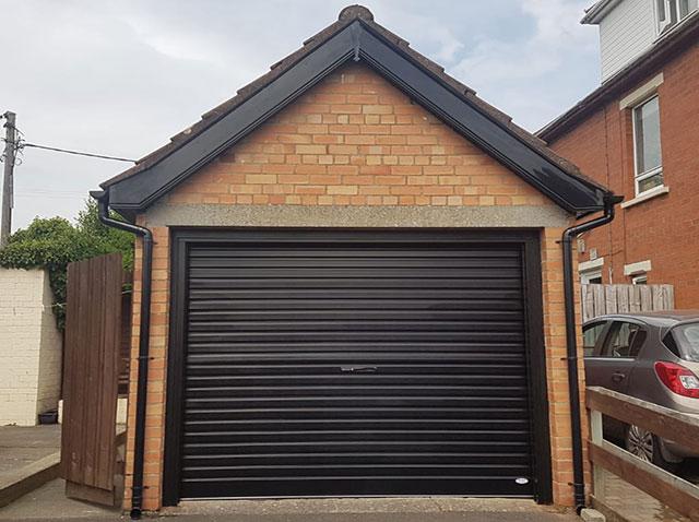 Black Roller Garage Door