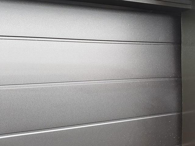 Black Sectional Garage Door