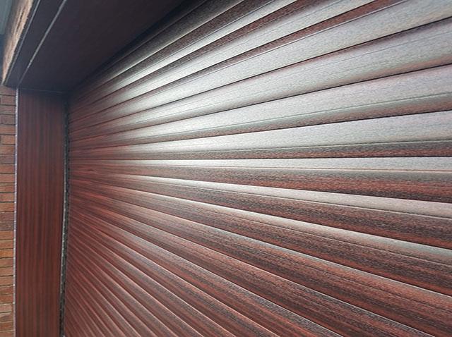 Brown Roller Garage Door