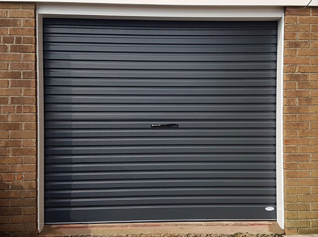 Navy Roller Garage Door