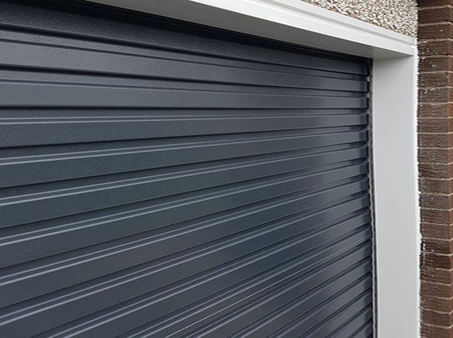 Navy Roller Garage Door