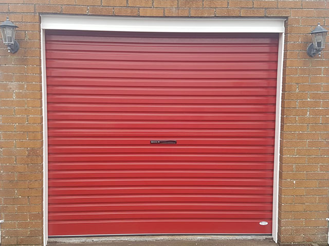 Red Roller Garage Door